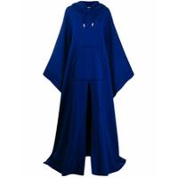 Dsquared2 Oversized Hooded Poncho - Azul