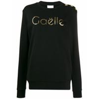 Gaelle Bonheur Suéter Com Logo Metálico - Preto