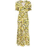 Rixo Vestido Midi Estampado 'ariel' - Amarelo