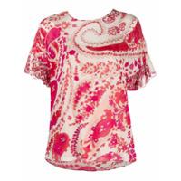 Twinset Camiseta Com Estampa Paisley - Neutro