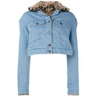 Forte Dei Marmi Couture Jaqueta Cropped 'flamma' - Azul