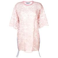 Forte Dei Marmi Couture Vestido De Renda Translúcida - Rosa