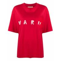 Marni Camiseta Com Estampa De Logo - Vermelho