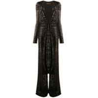 Dundas Long-Sleeve Embroidered Jumpsuit - Preto
