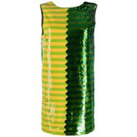Halpern Vestido Mini Com Paetê - Verde