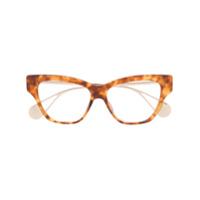 Gucci Eyewear Armação De Óculos Tartaruga - Marrom