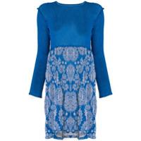 Issey Miyake Cauliflower Vestido Com Estampa Floral - Azul