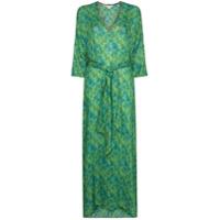 Chufy Vestido Longo Tarabel Com Estampa Abstrata - Verde