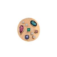 Mabity Bonjean Anel 'macetado Pedras' Ouro 18K - Metálico