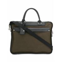 Felisi Two Tone Briefcase Tote - Verde
