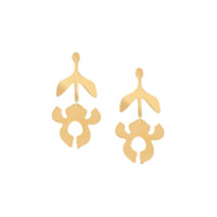 Lele Sadoughi Par De Brincos Iris - Dourado