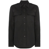 Helmut Lang Camisa Com Bolso Frontal - Preto