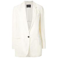 Emporio Armani Blazer Com Decote Profundo - Branco