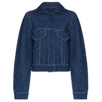 Alled-Martinez Jaqueta Jeans Com Efeito De Tricô - Azul