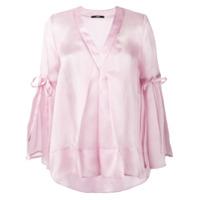 Sly010 Blusa Decote Em V - Rosa