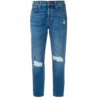 7 For All Mankind Calça Jeans Skinny Cropped - Azul