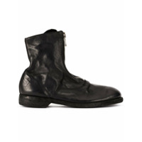 Guidi Soft Zip Front Ankle Boots - Preto