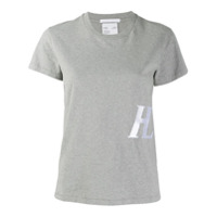 Helmut Lang Camisa Com Bordado Monogramado - Cinza