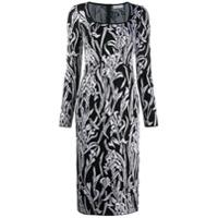 Givenchy Vestido Midi Com Padronagem Floral - Preto
