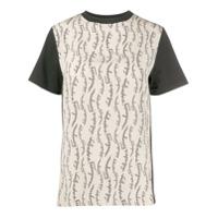 Salvatore Ferragamo Camiseta Com Recortes E Estampa De Logo - Preto