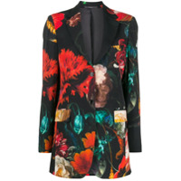 Paul Smith Floral Print Blazer - Preto