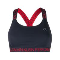 Calvin Klein Top Esportivo Com Estampa De Logo - Azul