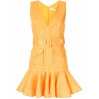 Zimmermann Vestido Mini Super Eight Safari - Amarelo