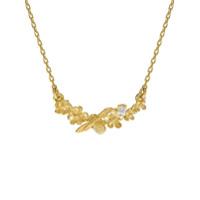 Alex Monroe Colar Floral De Ouro Amarelo 18K Com Diamante - Dourado