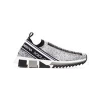 Dolce & Gabbana Tênis Com Aplicação De Cristal - Branco
