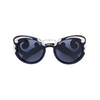 Prada Eyewear Óculos De Sol 'minimal Baroque' - Preto