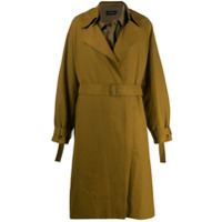 Low Classic Belted Trench Coat - Verde