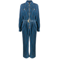 Just Cavalli Macacão Jeans Com Cinto - Azul