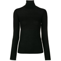 Salvatore Ferragamo Turtleneck Mesh Sweater - Preto