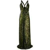 Dundas Vestido Longo Com Bordado - Verde