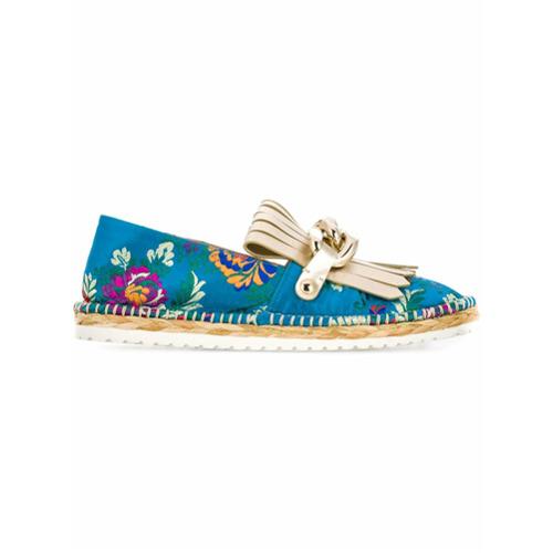 Imagem de Casadei floral embroidered espadrilles - Azul