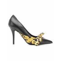 Versace Sapato Com Detalhe De Laço - Preto