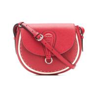 Fendi Stitch Detail Saddle Bag - Vermelho