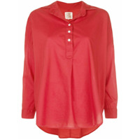 A Shirt Thing Camisa Lisa Mangas Longas - Vermelho