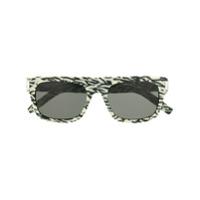 Saint Laurent Eyewear Óculos De Sol Com Estampa Abstrata - Branco