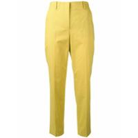 Incotex Calça De Alfaiataria Cropped - Amarelo