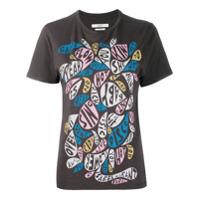 Isabel Marant Étoile Camiseta Com Estampa De Slogan - Cinza