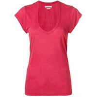 Isabel Marant Étoile U-Neck T-Shirt - Vermelho