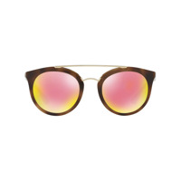 Prada Eyewear Óculos De Sol Aviador - Metálico