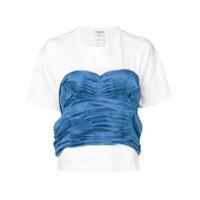 Junya Watanabe Camiseta Com Detalhe Contrastante - Branco