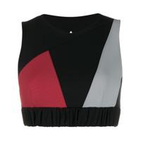 No Ka' Oi Blusa Cropped Color Block - Preto
