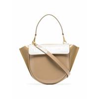 Wandler Neutral Hortensia Medium Patent Leather Shoulder Bag - Neutro