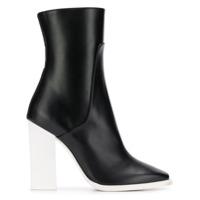 Lanvin Contrast Heel Ankle Boots - Preto
