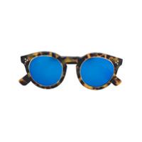 Illesteva Óculos De Sol 'leonard 2 Ring' Espelhado - Marrom