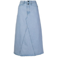 Proenza Schouler White Label Saia Jeans Evasê - Azul