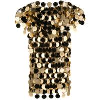 Paco Rabanne Camiseta Com Paetês - Dourado